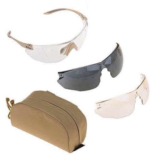 Тактические очки Bolle Combat KIT (Комплект три линзы песочная версия)