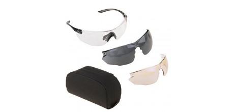 Тактические очки Bolle Combat KIT (Комплект три линзы, черная версия)